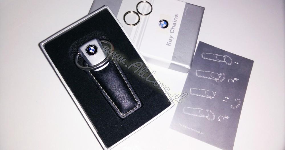 Skórzany brelok BMW - idealny na prezent, z pudełkiem | www.alilove.pl