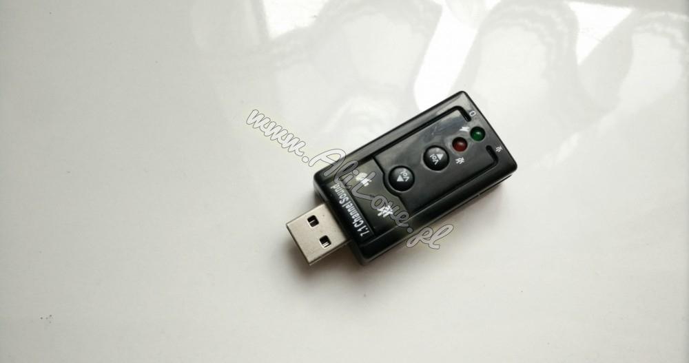 Karta dźwiękowa muzyczna 7.1 na USB