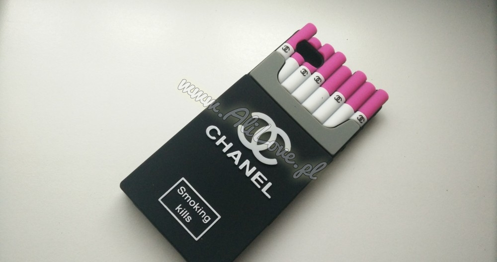 Chanel Case na Iphone 5 / 5s - Smoking kills