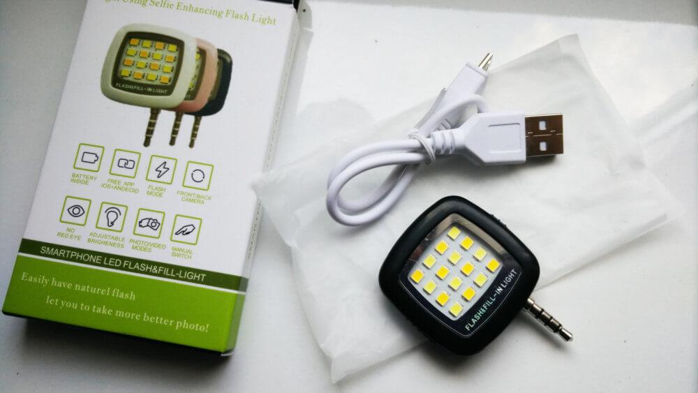 Zewnętrzny LED FLASH dla smartfona selfie led stick lampa błyskowa aliexpress gearbest aliholik everythingaliex wykop alilove polska pl co kupiłem w chinach zakupy z chin chińskie cuda