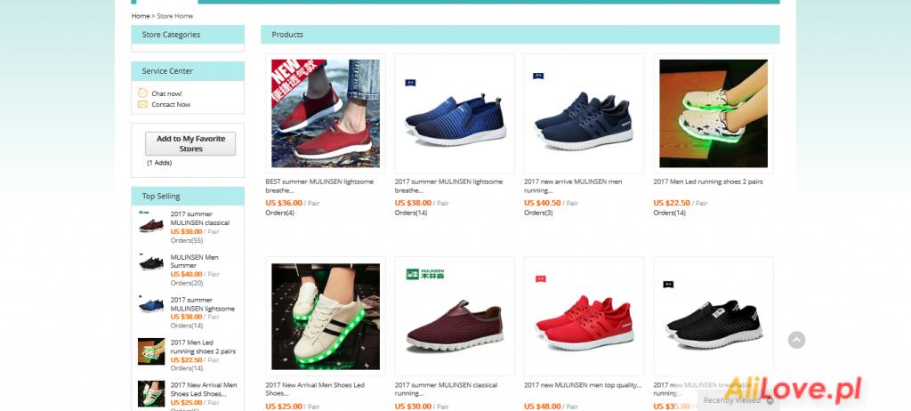 Yang Li 11 Quality sprzedawca obuwia sportowego