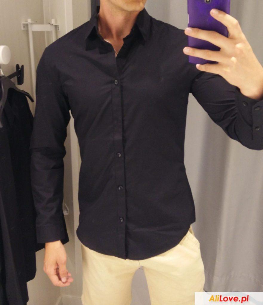 stylowa koszula slim fit z aliexpress