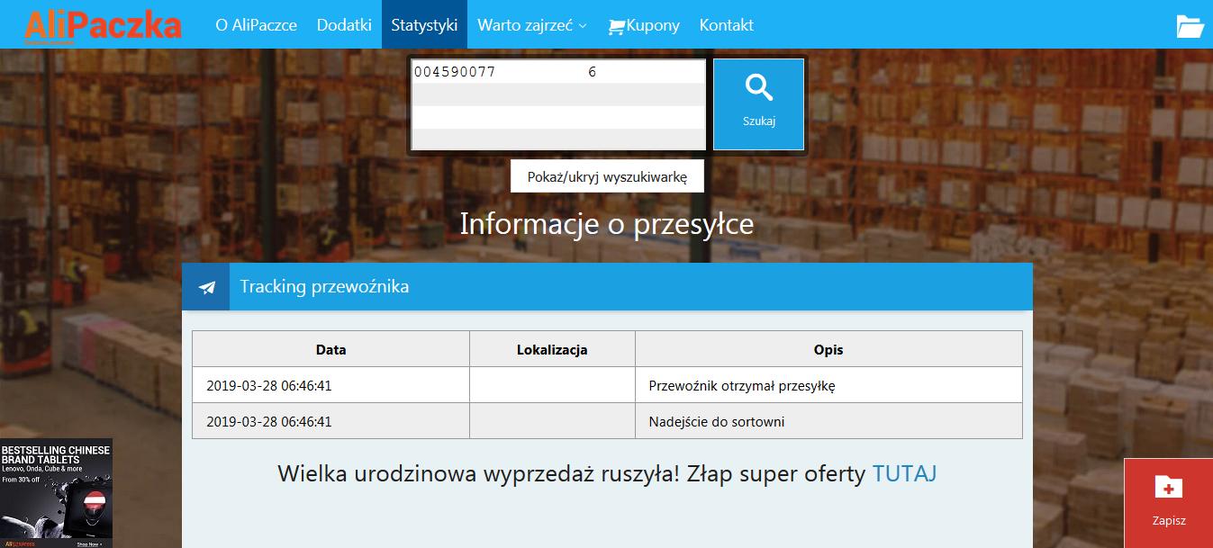 9f9342d80cef6d Jak śledzić przesyłkę z Chin? - Alilove.pl - Zakupy z Chin - Porady ...
