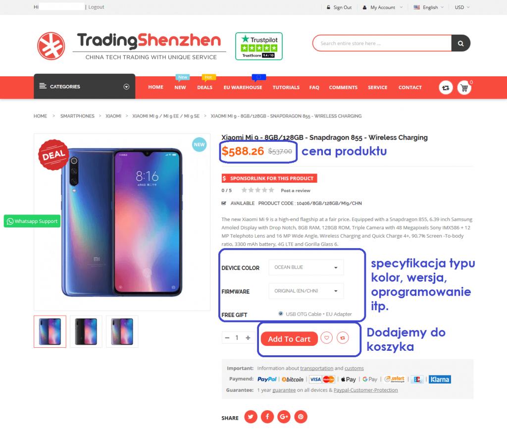 tradingshenzen xiaomi mi9 jak kupować jak robić zakupy