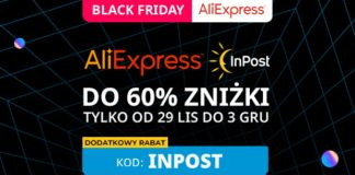 kod rabatowy aliexpress black friday cyber monday dla nowych inpost