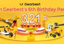 Gearbest 6th birthday promotions coupons fun games