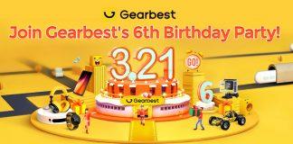 Gearbest 6. Geburtstag Promotions Gutscheine lustige Spiele