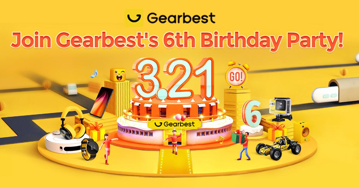 6-te urodziny gearbest promocje kupony zabawy gry
