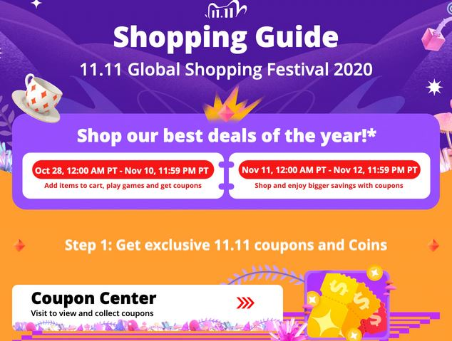 11.11 AliExpress 2020 - Festival of sales guide