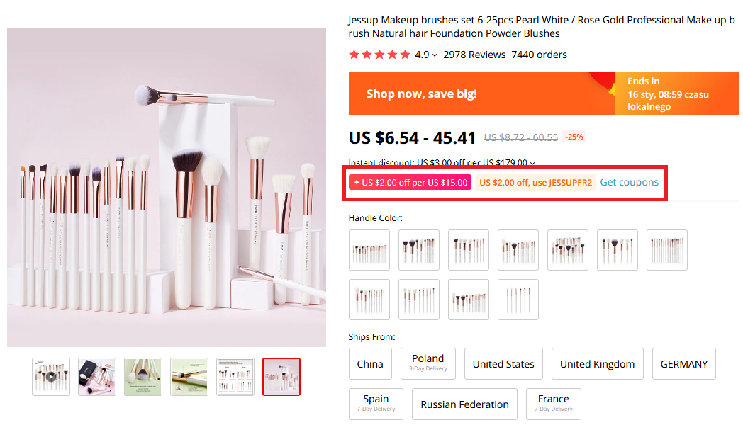 Jessup Makeup Brushes AliExpress Winter Sale