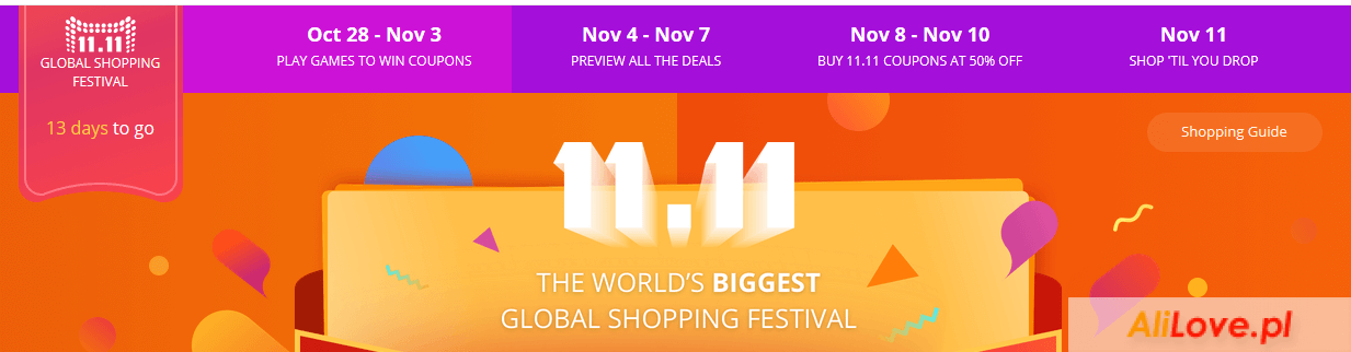 11 11 Shopping Festival 2016 na AliExpress